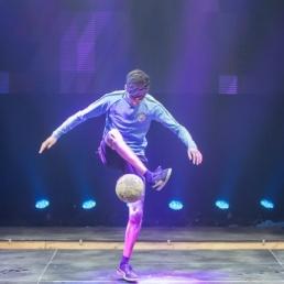Jongleur Veenendaal  (NL) Voetbal freestyle show