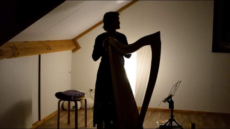 Yoga with live Harp