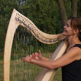 Harpist Leuvenheim  (NL) Harpiste Lies Joosten