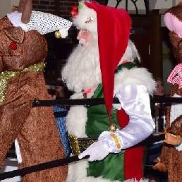 Event show Oude Pekela  (NL) Kerstman met dansende rendieren