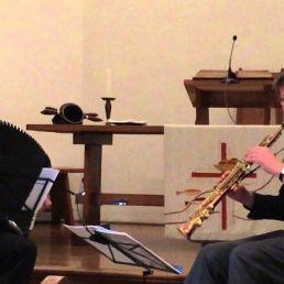 Saxofonist Bedum  (NL) Niels Bijl & Gertie Bruin
