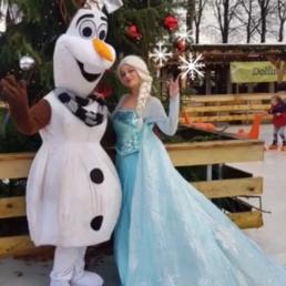 Karakter/Verkleed Amsterdam  (NL) Elsa , Anna & Olaf,Frozen team kerst act
