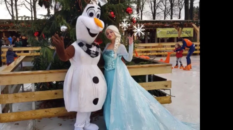 Elsa , Anna & Olaf,Frozen team kerst act