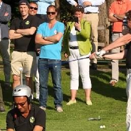 Golftrickshow met Golfclinic