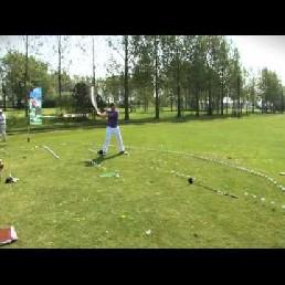 Golftrickshow met motivational speakers
