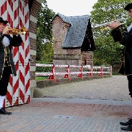 Het Nederlands herauten trompet duo