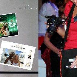 Photographer Haarlem  (NL) Instant photo magnets for event visitor