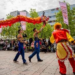 Dance group Rotterdam  (NL) Chinese Dragon Dance