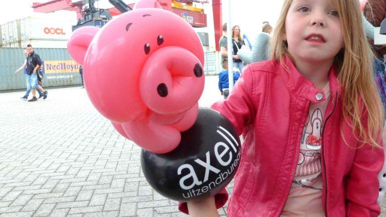 Festival of advertising balloons