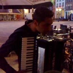 Accordeonist Florian met Bassist