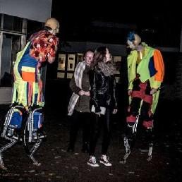 Actor Emmen  (NL) Horror clowns op stelten ( Halloween )