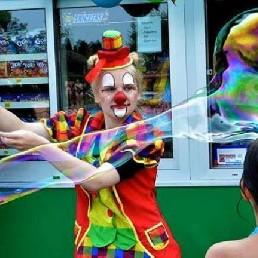 Clown Zuidbroek  (NL) Bellenblaas Clown