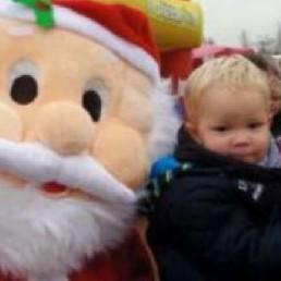 Karakter/Verkleed Zuidbroek  (NL) Kerstman Looppop