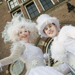 Animatie Leerdam  (NL) Steltloper - Steltlopers - Winter Act
