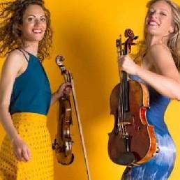 Violist Voorburg  (NL) Achtergrondmuziek Strijkduo Mélange