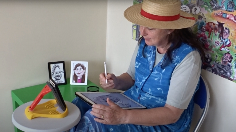 Artist Lille  (BE) Digital fast caricaturist Maggy