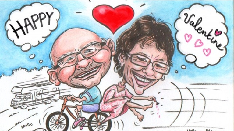 Artist Lille  (BE) A caricature as a Valentine gift