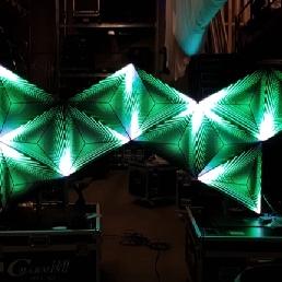 VJ Amsterdam  (NL) vj met 3d ledvideo djbooth