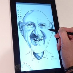 Artist Maldegem  (BE) Digital caricature drawing - Marc de Roo