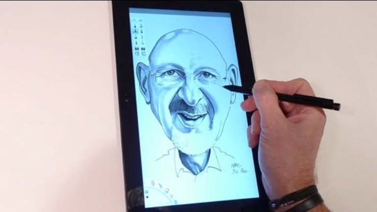 Digitaal karikatuurtekenen - Marc de Roo