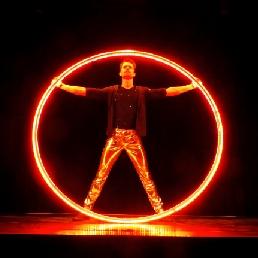 Acrobat Zaandam  (NL) Cyr Wheel Acrobatics LED - Solo Show
