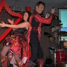 Harpist Melle  (BE) Elektrische harp Janu Duo