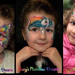 Schminker Maarssen  (NL) Sprankelende Regenboogschmink