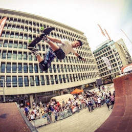 Halfpipe-demonstratie