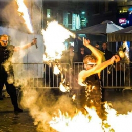 Stunt show Antwerpen  (BE) Ryu Kai - Acrodance on Fire