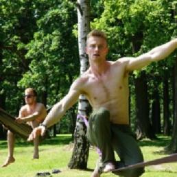 Stunt show Tremelo  (BE) Slackline Show